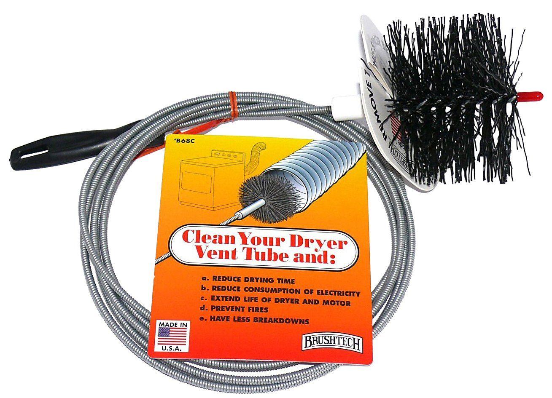 Brushtech B68C Long Dryer Vent Duct Cleaning Brush, 10ft