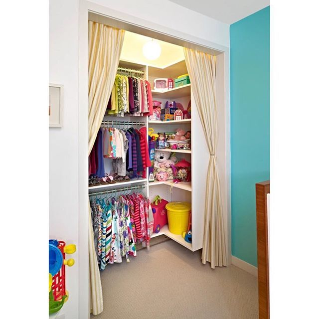 Such a cute closet! Credit to Wood Inc.