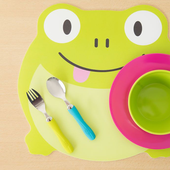 Frog-shaped placemat