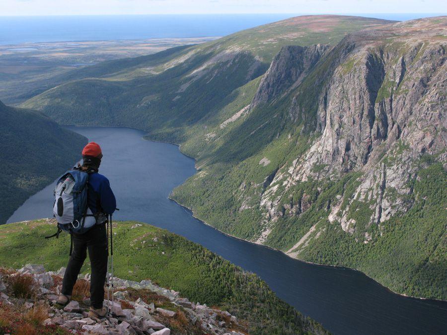 Ten Mile Pond From Gros Morne Mtn Newfoundland And Labrador Newfoundland O Canada