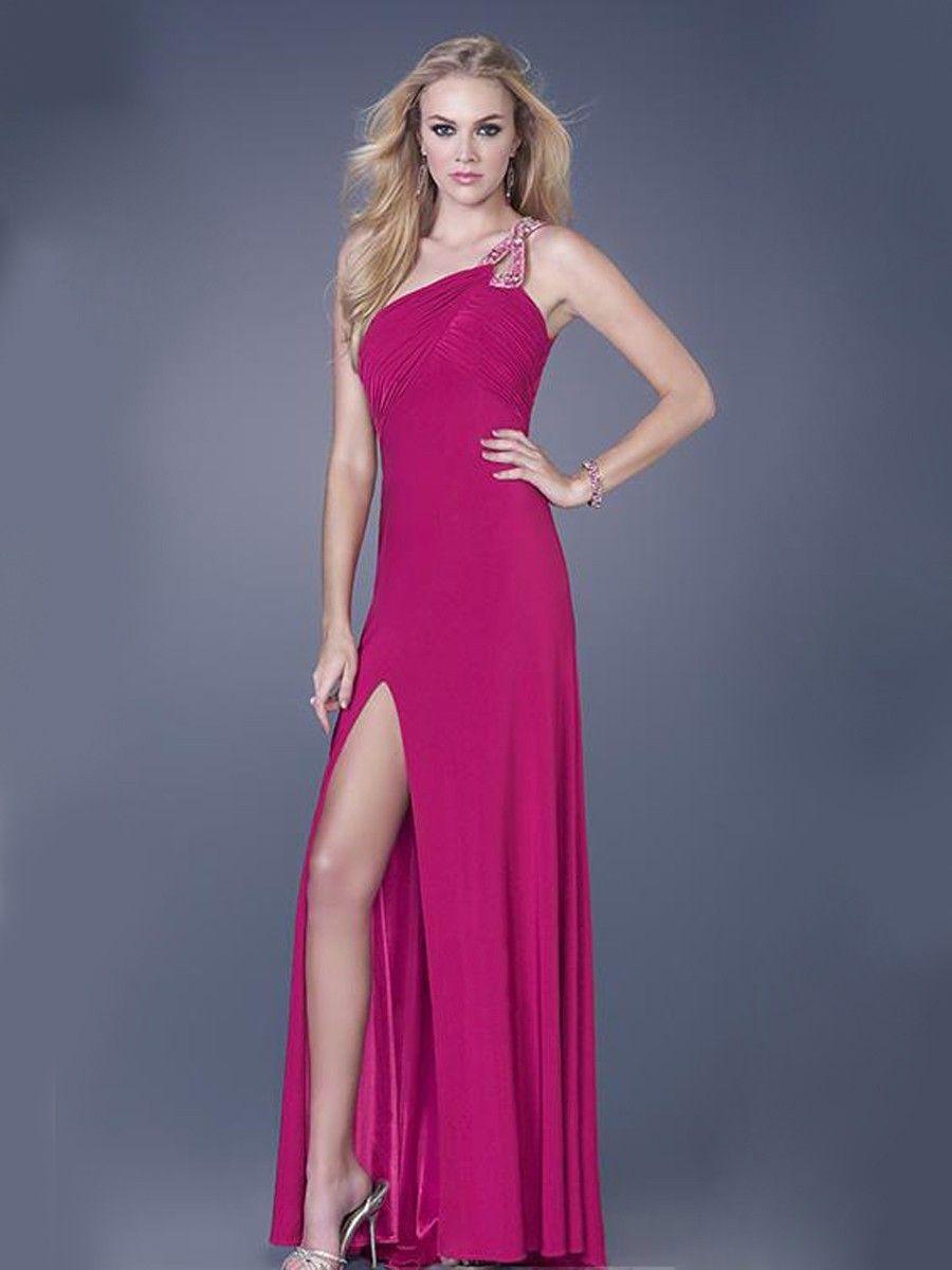 One shoulder tr ger moderne abendkleid lang dresses pinterest abendkleid abendkleider - Moderne abendkleider lang ...