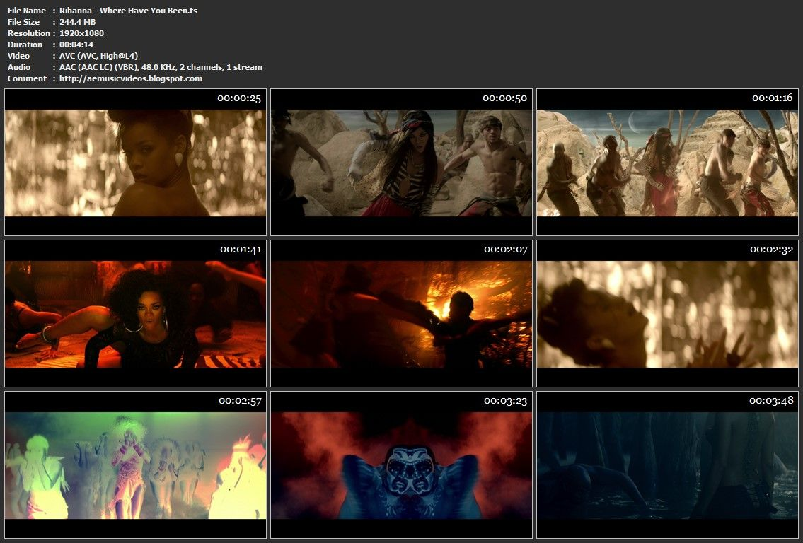 #AEMusicVideos Rihanna - Where Have You Been (Tidal 1080p)