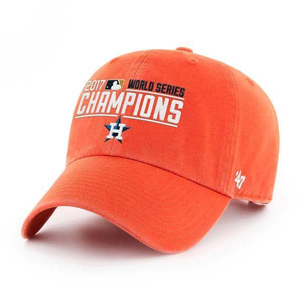 new style 6c476 2f744 Houston Astros Champions 47 Brand Orange Clean Up Adjustable ...