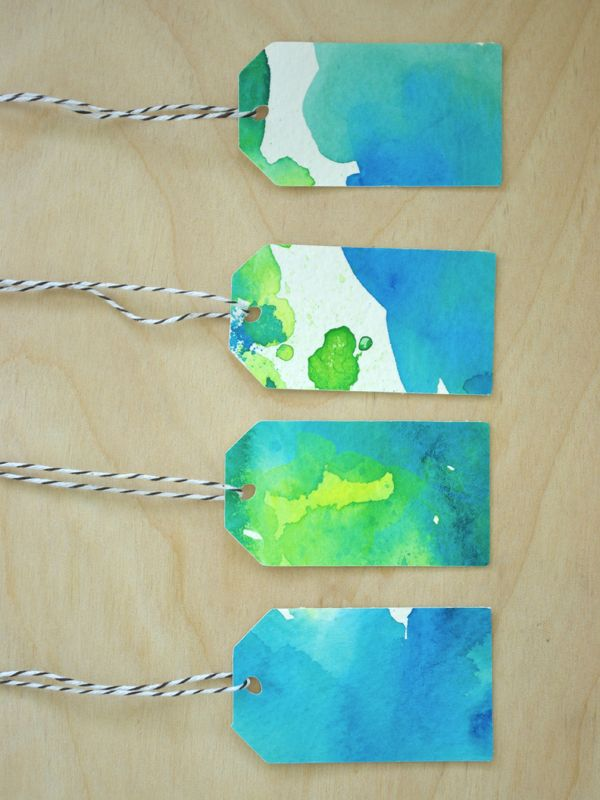 Watercolor Gift Tags Aquarela Marcador De Livro Bijuterias
