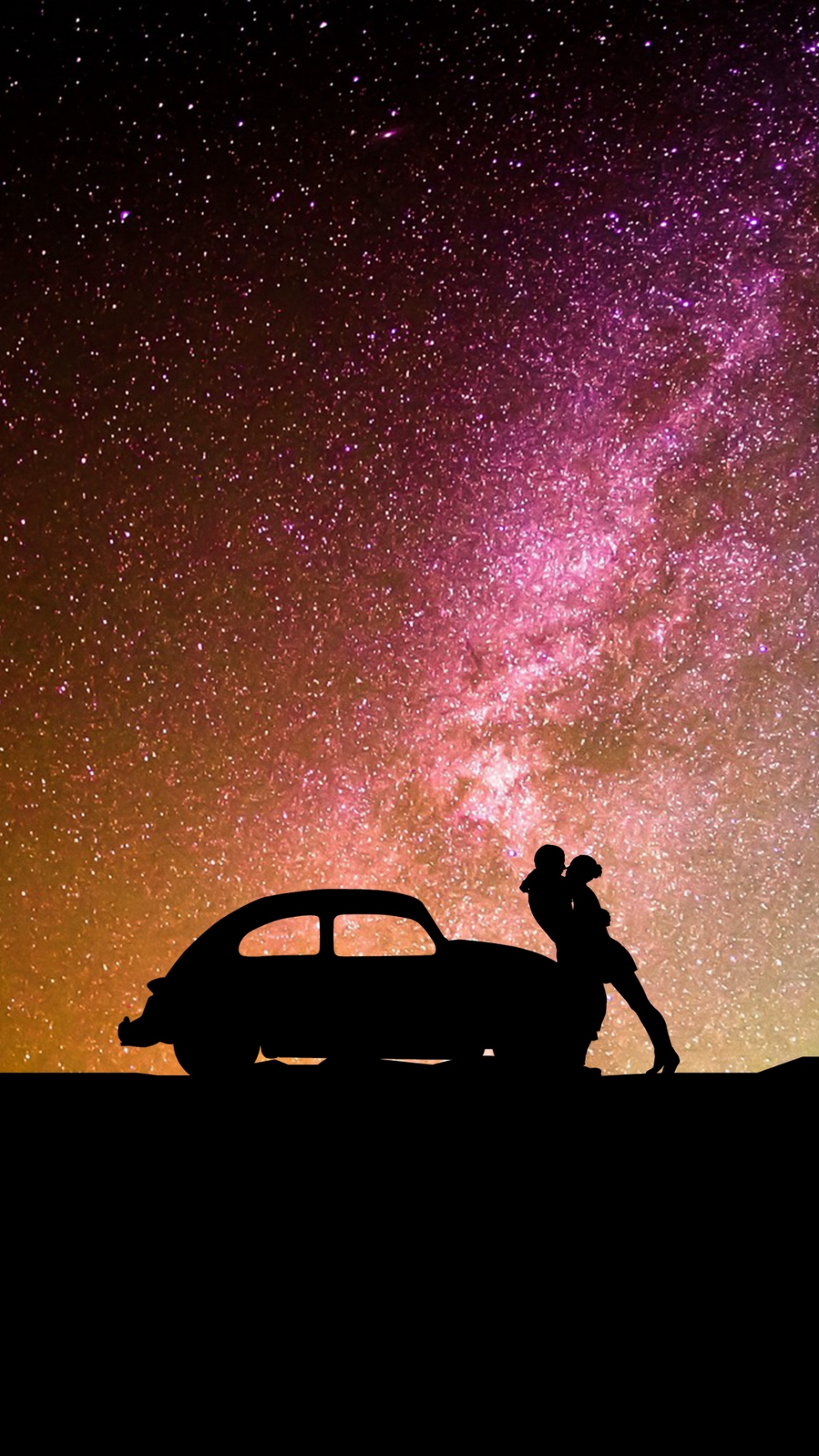 Download wallpaper 1080×1920 silhouettes, couple, hugs, auto, love, romance samsung galaxy s4, s5, note, sony xperia z, z1, z2, z3, htc one, lenovo vibe hd background