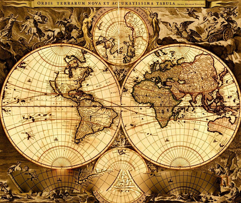 O atlas interativo que mostra o mundo de acordo com o período ...