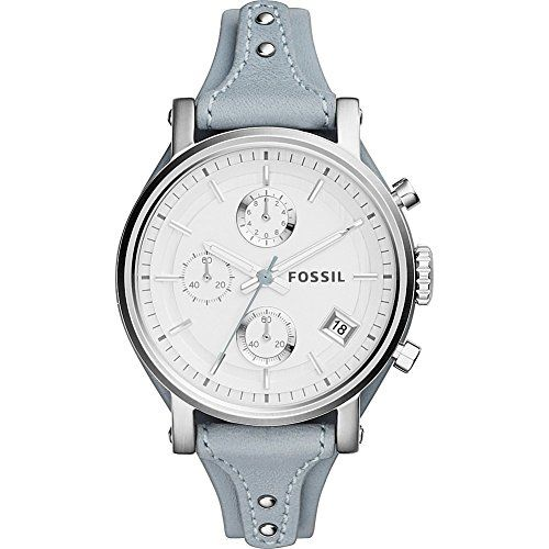 Fossil Women S Es3820 Original Boyfriend Watch With Blue Leather Band For More Information Visit Image Link Blue Leather Watch Fossil Watches Leather Watch