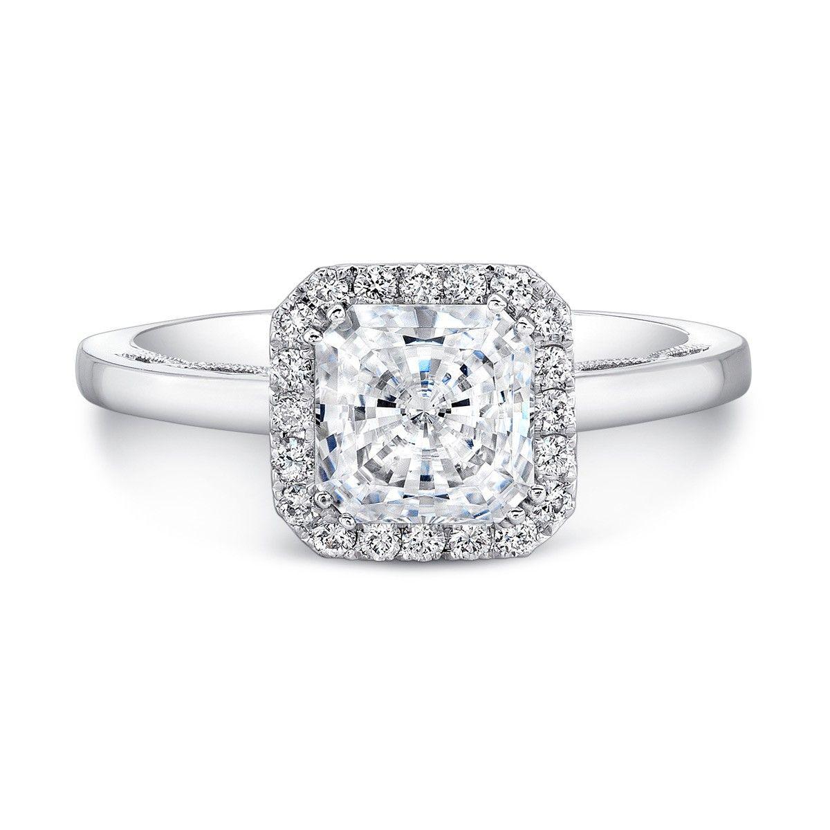 Forevermark Princess Halo Engagement Ring Square Wedding RingsDream