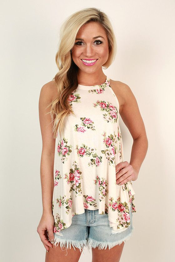Florals, for spring? Groundbreaking. But this floral shift tank is too pretty to pass up, and we had to have it!