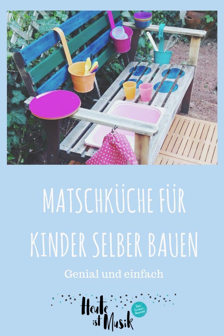 Matschküche DIY für Kinder | Einfache diy, Selber bauen und Günstig