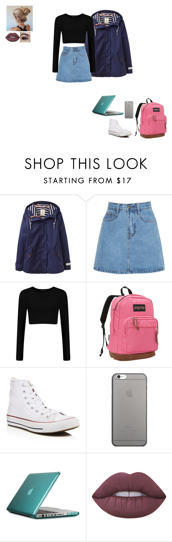 """""""where do i begin"""" by gabby-1606 on Polyvore featuring Joules, JanSport, Converse, Native Union, Speck and Lime Crime"""
