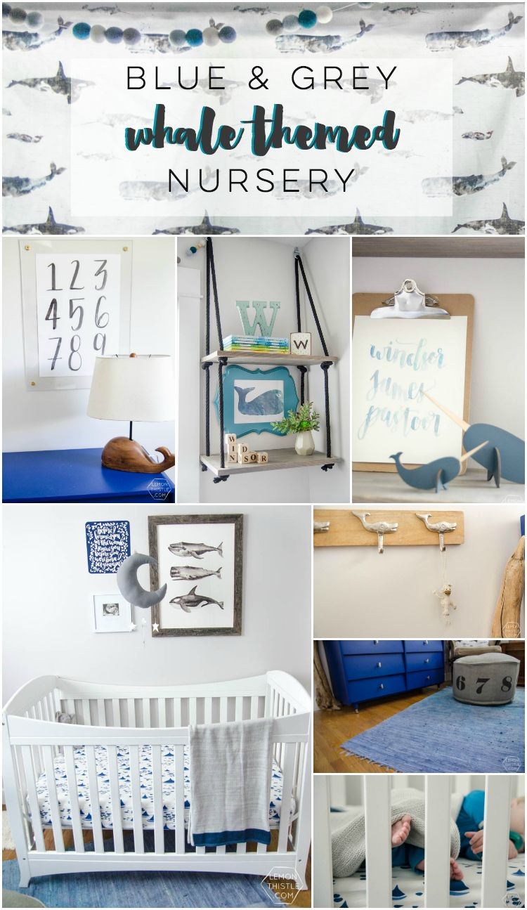 I Love This Updated Take On A Whale Themed Nursery With Greys And Blues It Could Totally Grow Them