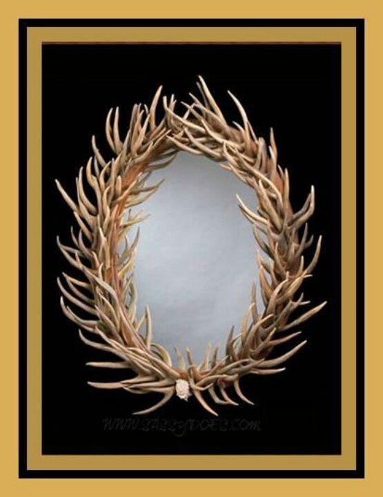 Antler mirror | redneck.?! | Pinterest | Antlers