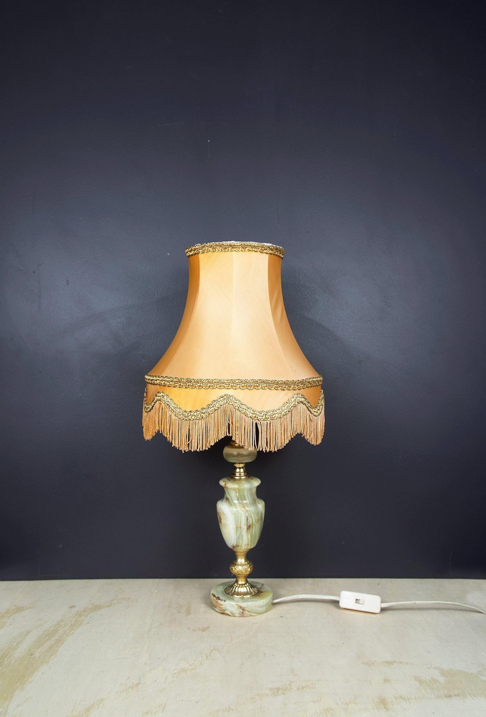 Vintage Table Lamp Onyx