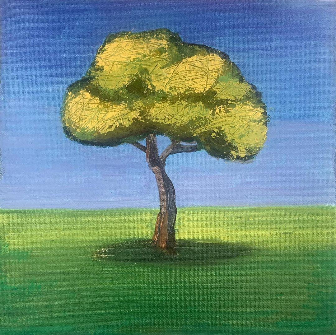 "Carla Heilig on Instagram: ""Just a tree 🌳 but I love it! #art #artist #justatree #oilpainting #artistsoninstagram #keepitsimple #nature #naturelovers #spring…"""