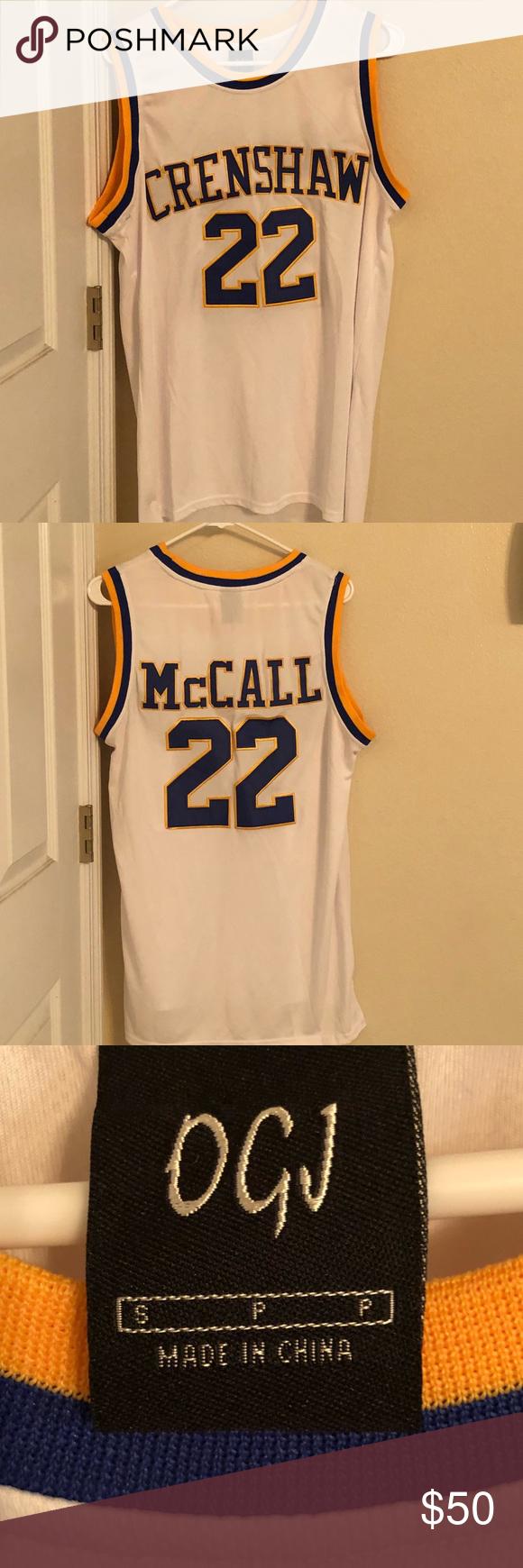 e57def5b109 Love and basketball Quincy McCall jersey Love and basketball Quincy McCall  Crenshaw High basketball jersey runs big worn once Shirts Tank Tops