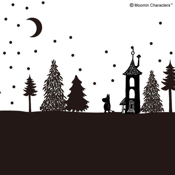 星降る夜のムーミン谷 ムーミン 壁紙 ムーミン イラスト
