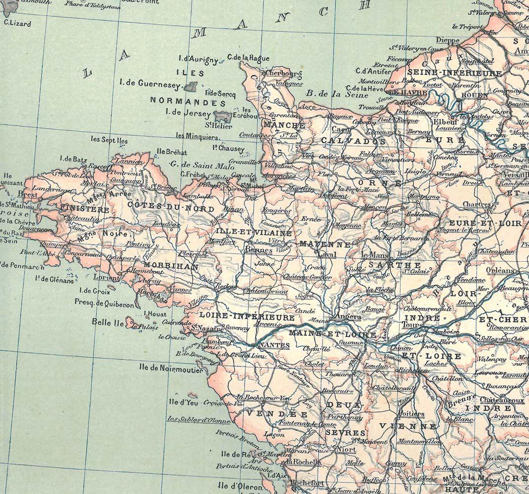 Old Map France Political Division 1889 Antique | Pinterest ...