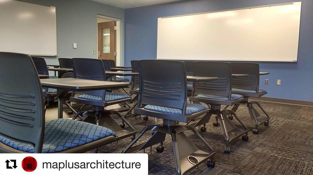 #Repost @maplusarchitecture with @repostapp ・・・ Furniture is going in at OU Cate Center 2 this week! We can't believe students will be filling these seats in just a few weeks. #OU #universityofoklahoma #furnituredesign #ispyki