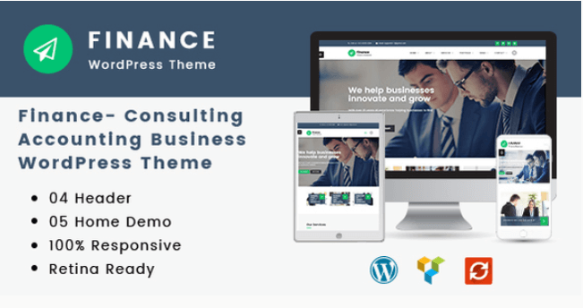 Finance V1 2 6 Consulting Accounting Responsive WordPress Theme Nulled