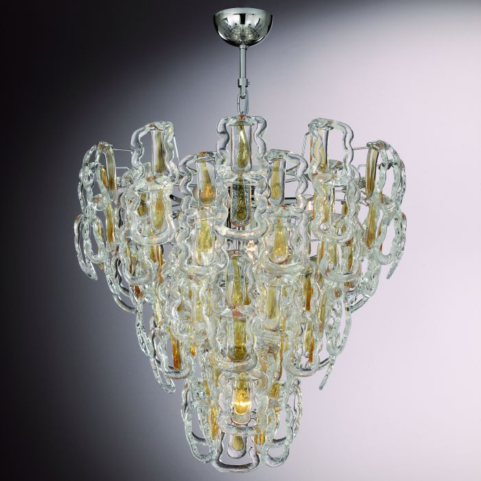Our Version Of The Modernist Hook Chandelier First Created In The