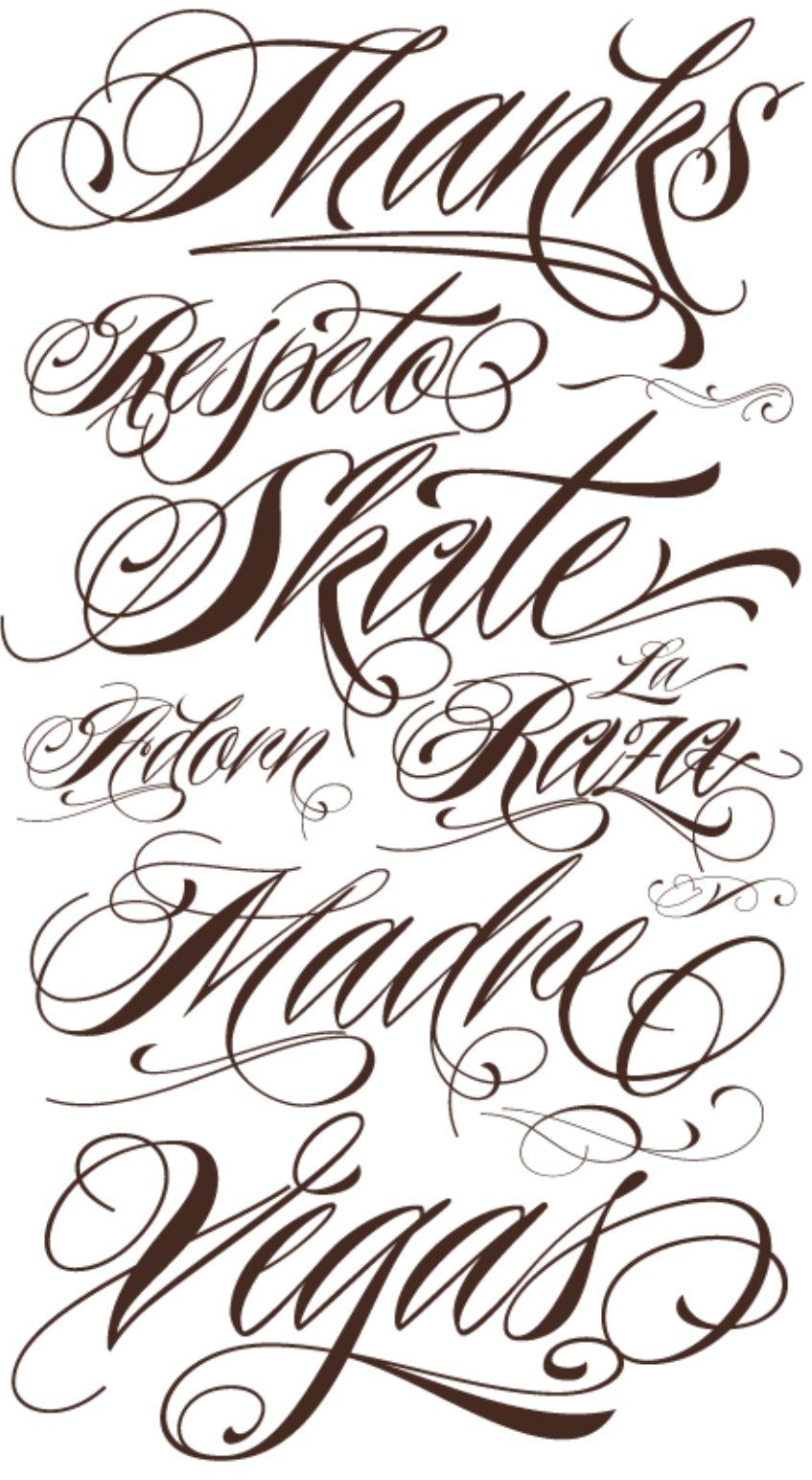 Fancy Cursive Fonts Alphabet For Tattoos