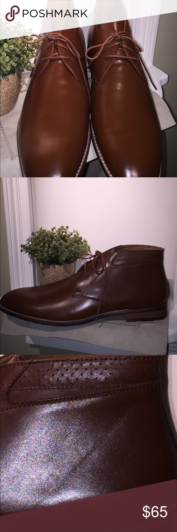 STEVE MADDEN men's leather chukka dress shoes Beautiful pair of men's leather STEVE MADDEN shoes.  Shoes are in MINT condition.  These come from a smoke free / pet free home Steve Madden Shoes Ankle Boots & Booties
