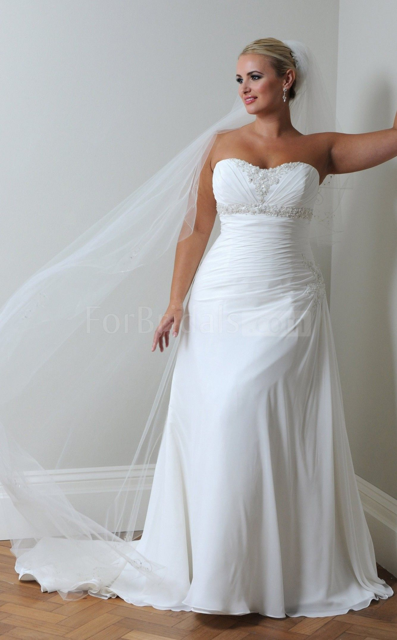Sweetheart sweep train sleeveless laceup chiffon aline wedding