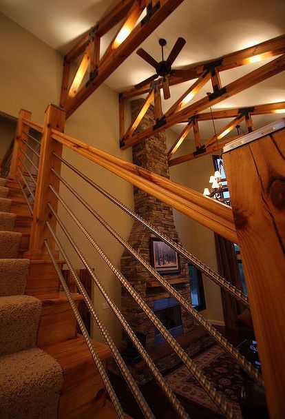 Diy Cable Rail Staircase Building A House New Homes | Cable Stair Railing Diy