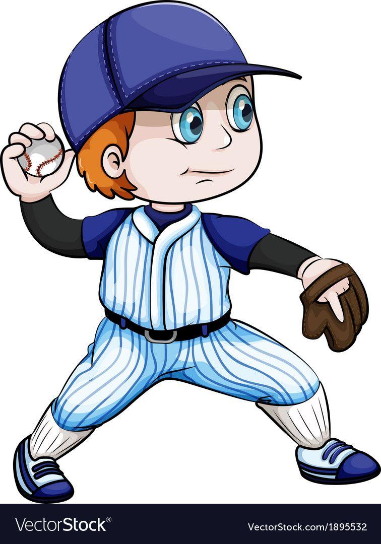 An Asian Baseball Player Royalty Free Vector Image Baseball Players Baseball Theme Birthday Baseball Anime