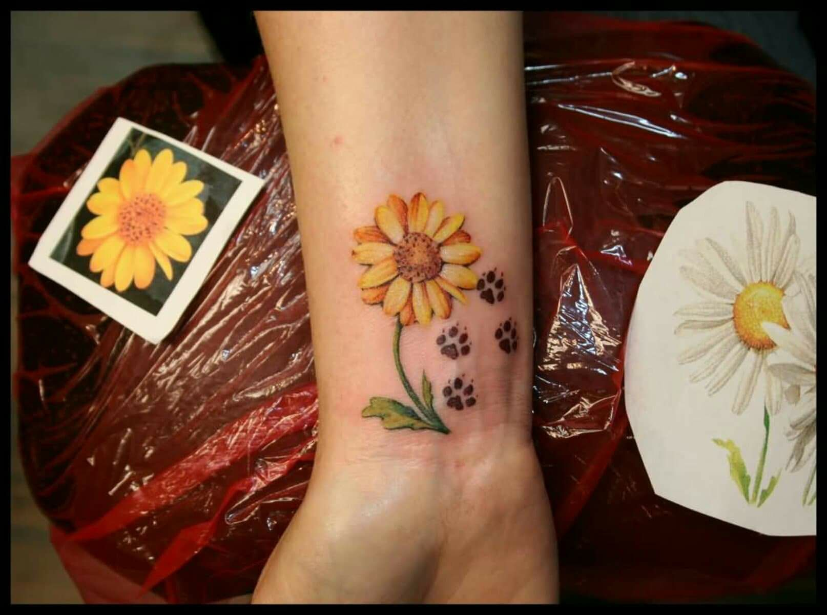 Hawaiian Flower Wrist Tattoo: Pin By Bonnie Pearl On Hawaiian Flower & Paw Tattoo