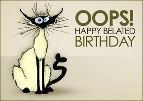 Free Belated Birthday Clip Art