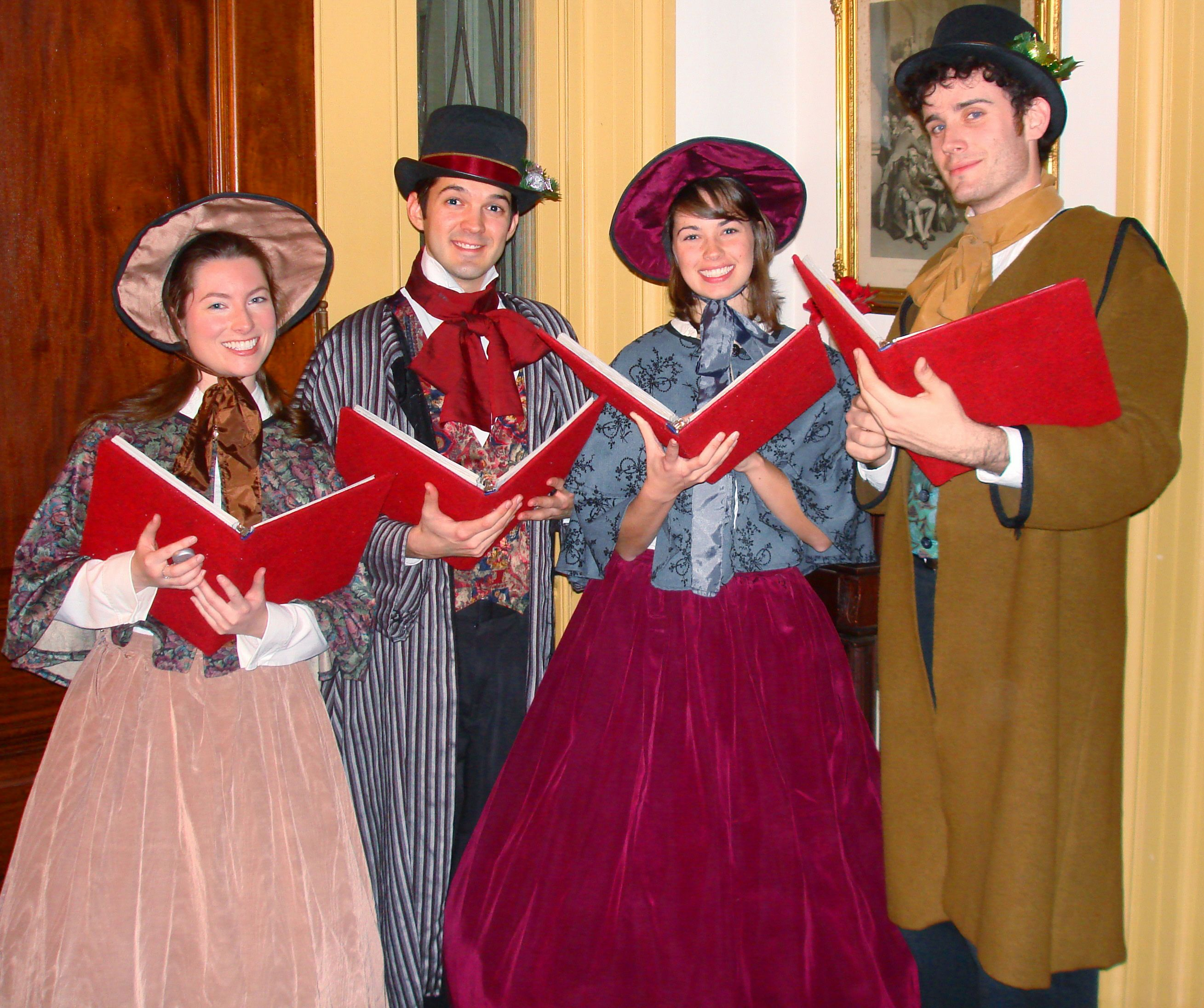 Victorian Christmas Carolers Decorations: This Photo Of A Group Of Victorian Carol Singers, Gives A