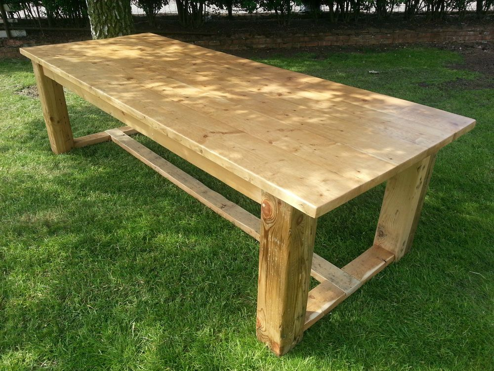 Reclaimed Pine Refectory Style Table 7ft 6 X 3ft In Home Furniture Diy