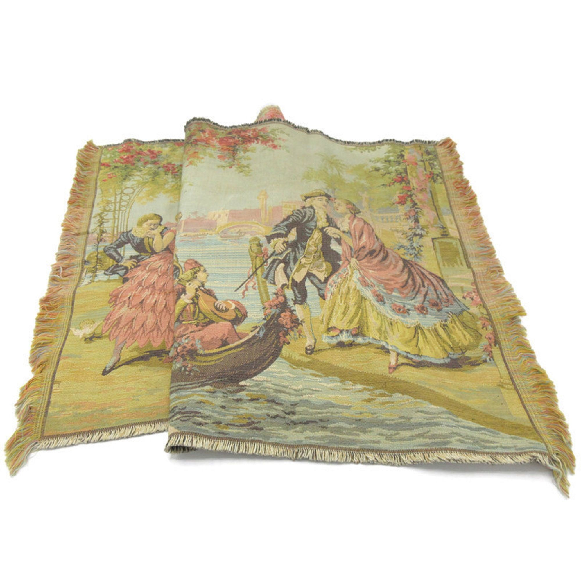 Art Deco Belgian Wall Tapestry Venice Courting Scene Etsy 1920s Art Deco Small Tapestry Art