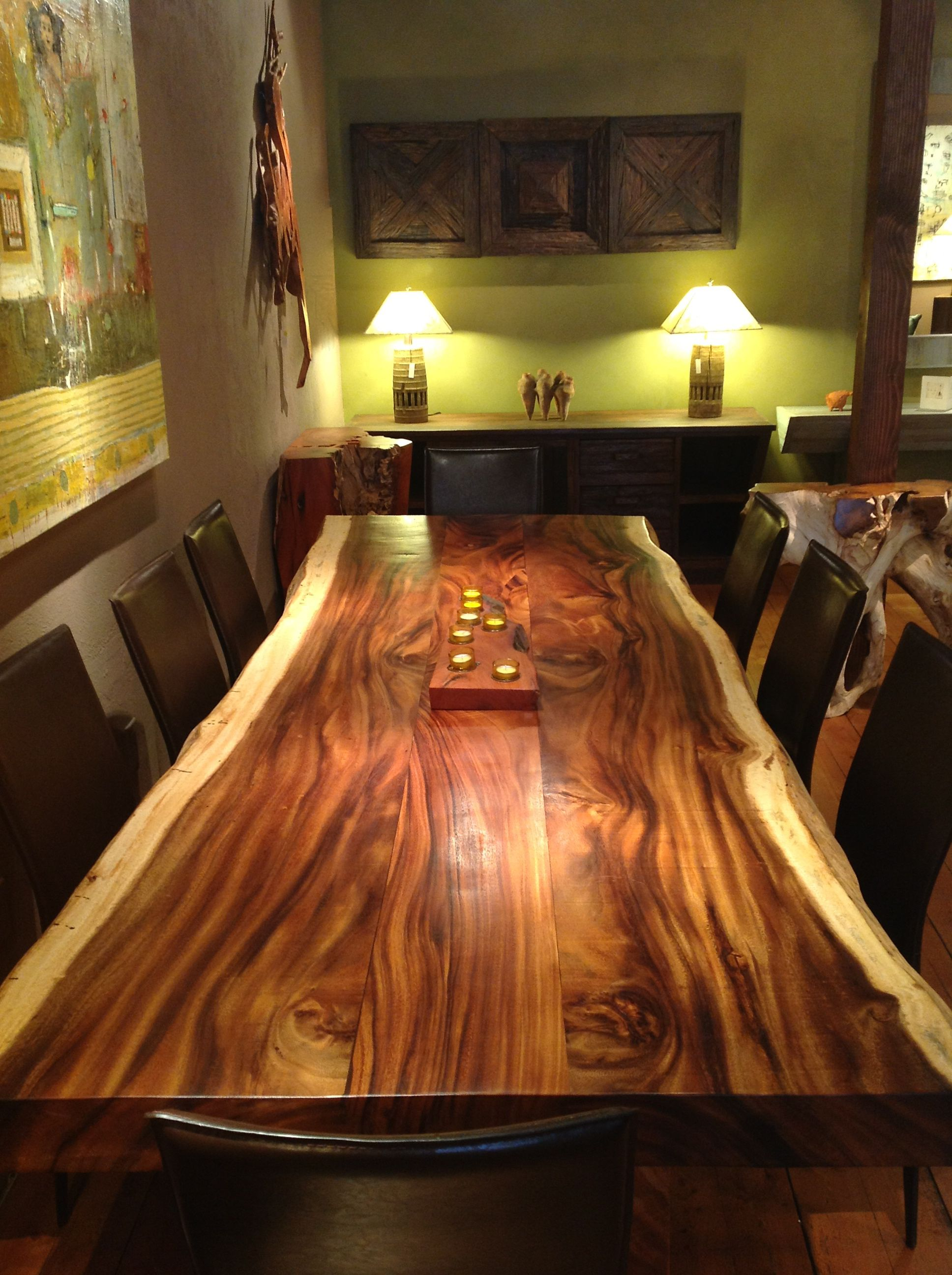 Live Edge Dining Table Sequoia Santa Fe Live Edge Dining Table Wood Dining Table Furniture