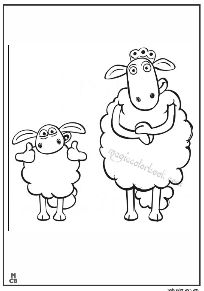 Shaum Sheep Free Printable Coloring Pages 37