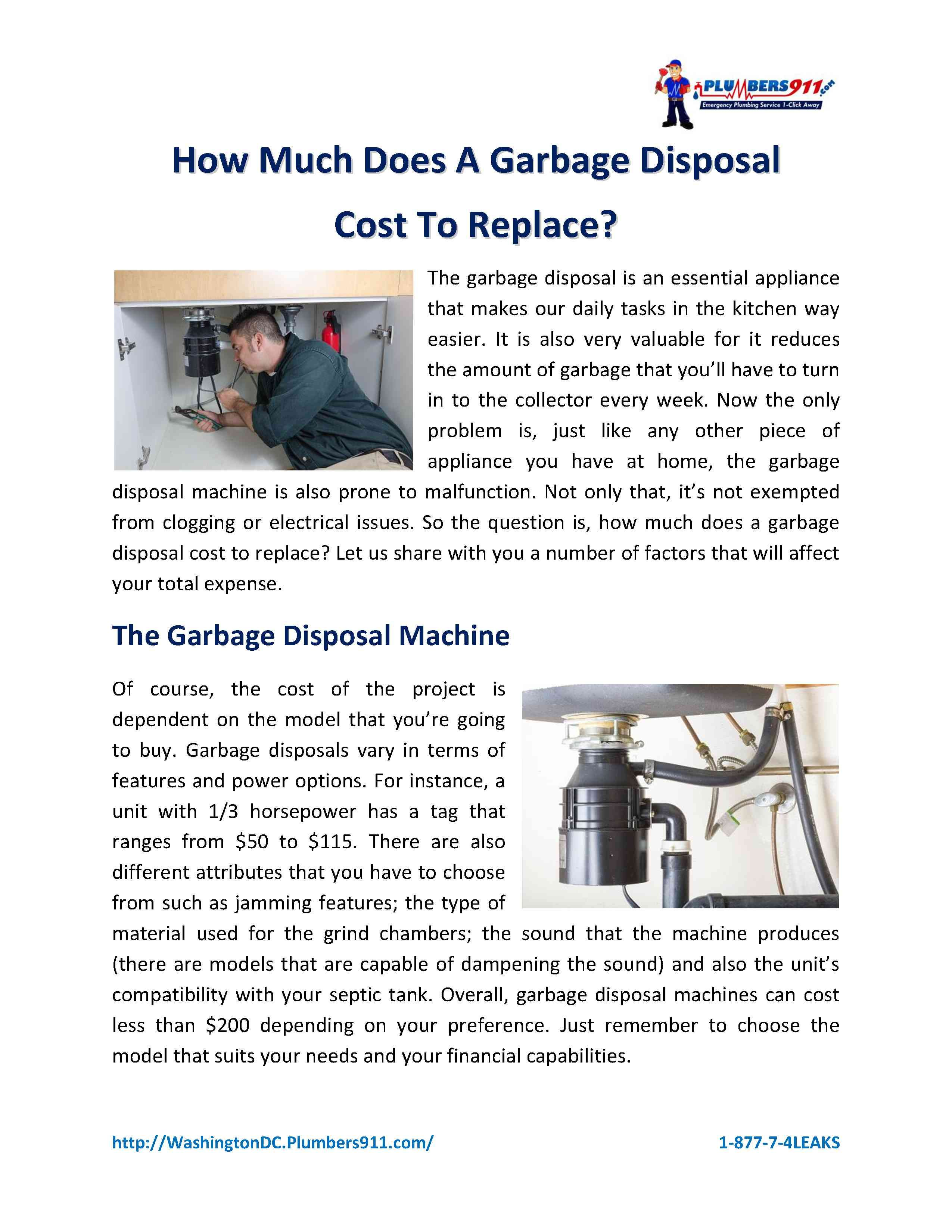 Do You Need A New Garbage Disposal Read Our Pdf Guide On How Much