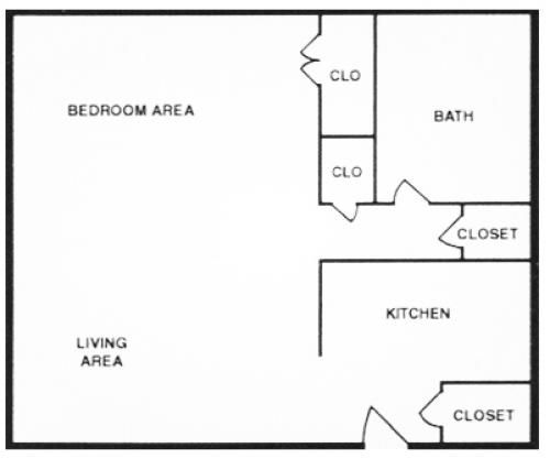 one bedroom apartment floor plan 500 sq ft - Google Search ...