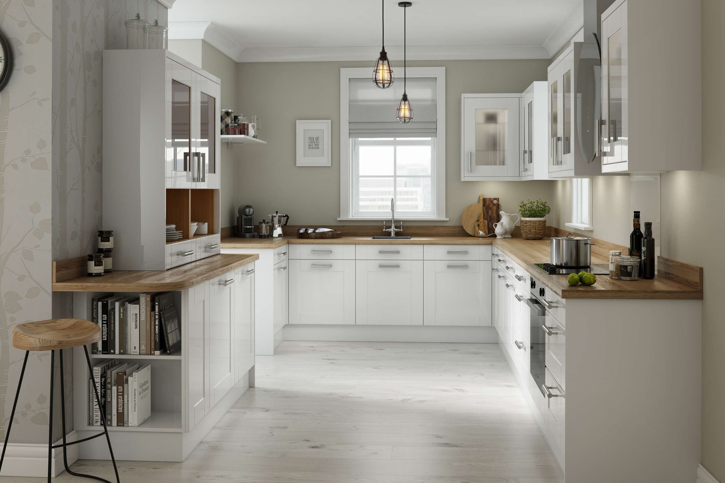 Best Shaker White Gloss Wren Kitchens White Gloss Kitchen 640 x 480