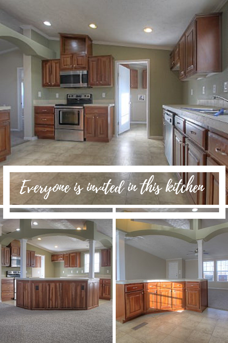 Check out this mobile home in WICKLIFFE, KY! This kitchen