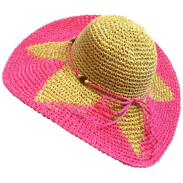 Fuchsia Wide Brim Starburst Print Floppy Hat ($17) ❤ liked on Polyvore featuring accessories, hats, pink, wide brim hat, pink hat, wide brim floppy hat, pattern hats and floppy brim hat