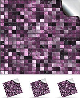 30 Plum Self Adhesive Mosaic Wall Tile Decals For 150mm 6 Inch Square Tiles Tp3 Realistic Looking Stick On Transfers Directly From The