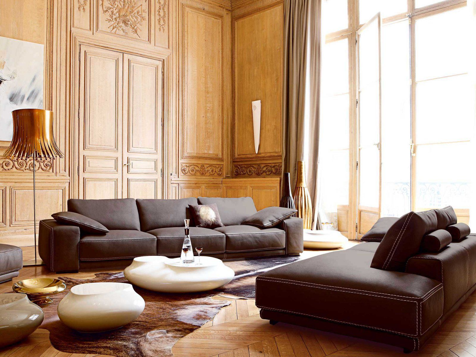 roche bobois canap rembourr en cuir piazza roche bobois design2 pinterest. Black Bedroom Furniture Sets. Home Design Ideas