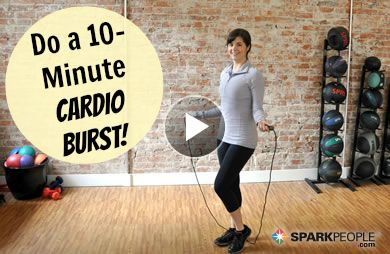10 Minute Jump Rope Cardio Workout Video Jump Rope Workout Exercise Workout Videos