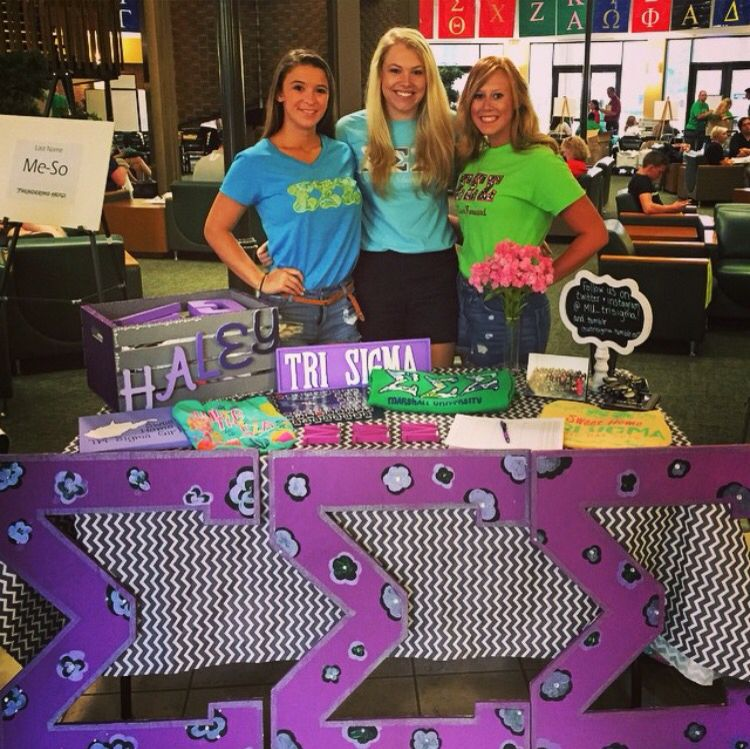 Psi Chapter at Marshall University getting ready for recruitment