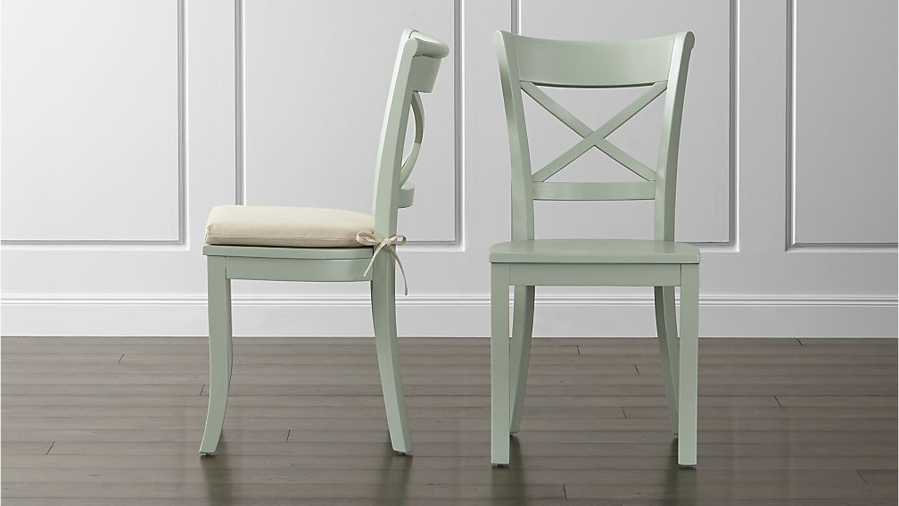 Vintner Mint Wood Dining Chair And Cushion