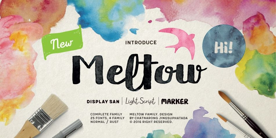 Download Meltow Font by Typesketchbook
