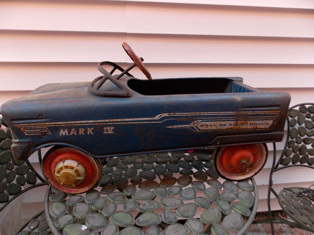 Vintage Mark IV Ball Bearing Drive Blue Metal Childs Pedal Car | A ...