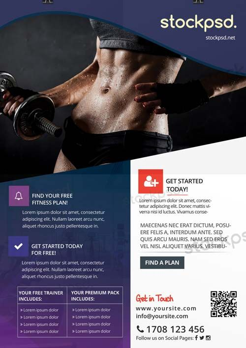 Fitness Gym Sports Free Flyer Template  HttpFreepsdflyerCom